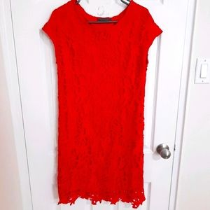 Suzy shier Over the knee red dress